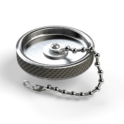 "Picture of 1/4"" Cap with Chain (Hand Tightening)"